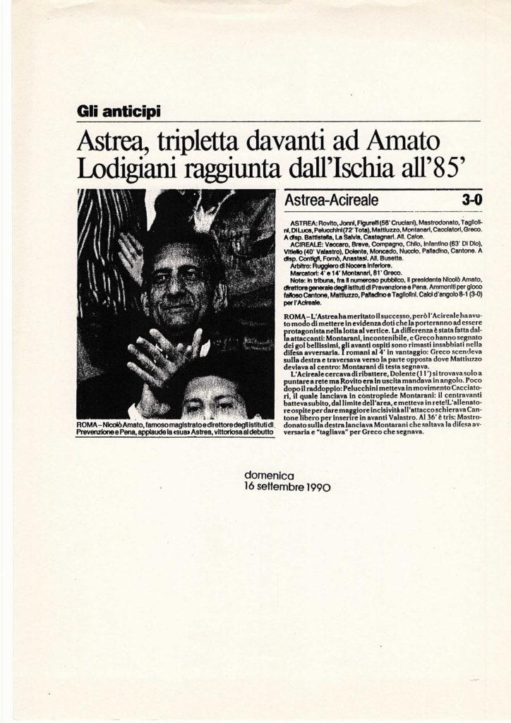ASTREA-ACIREALE ARTICOLO
