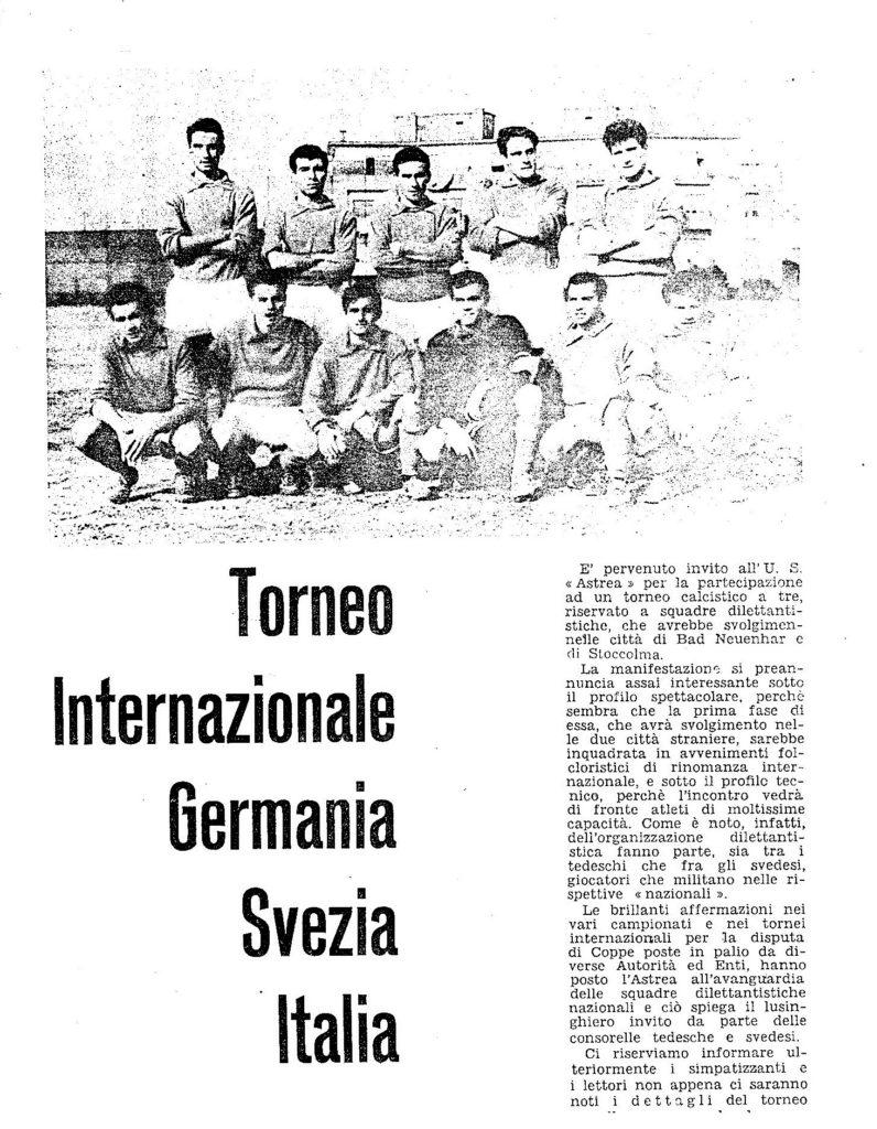 TORNEO INTERNAZIONALE
