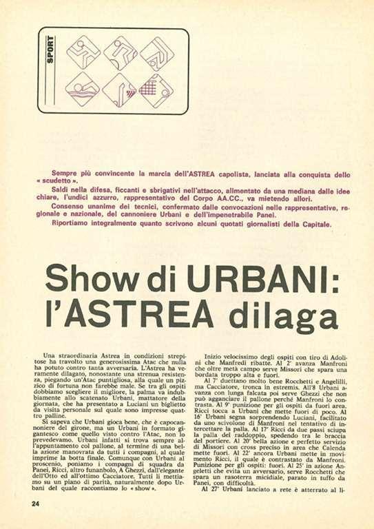URBANI CALCIATORE ASTREA