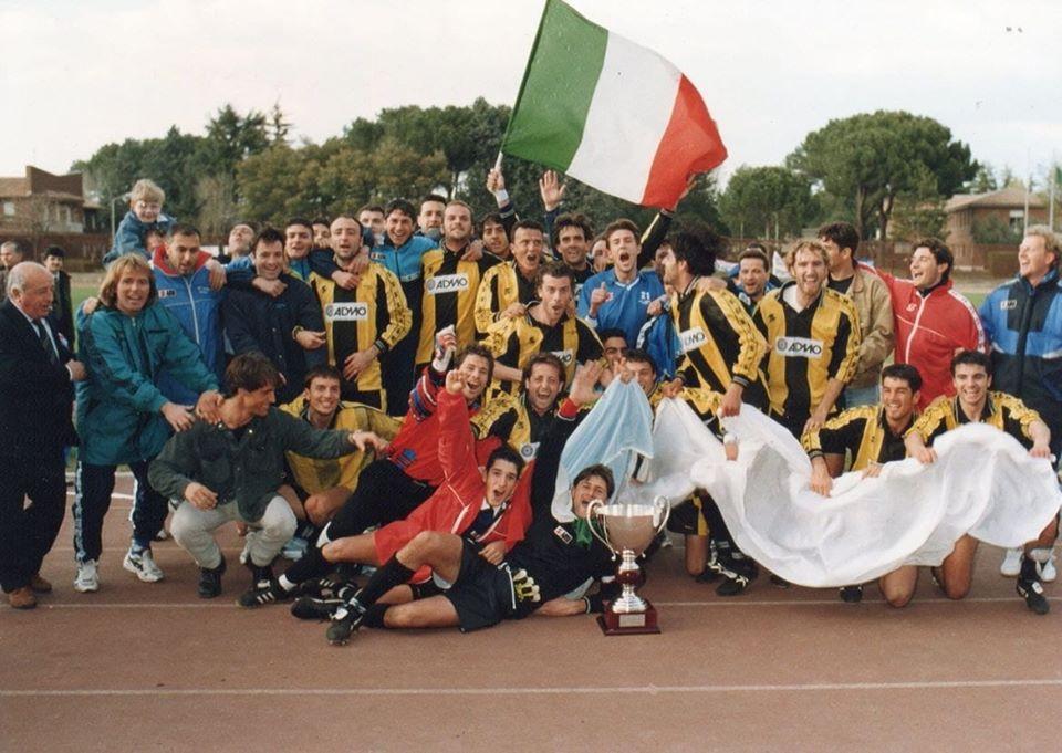 foto dei festeggiamenti per la vittoria della coppa italia