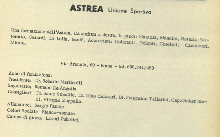 ASTREA 1963-1964